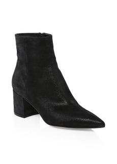 Gianvito Rossi Leather Point-Toe Booties