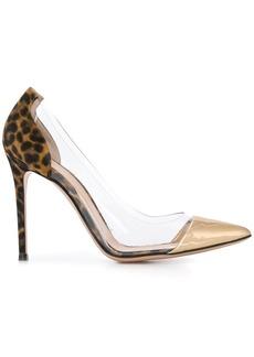 Gianvito Rossi leopard print detail pumps