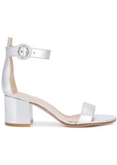 Gianvito Rossi metallic block heel sandals