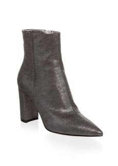 Gianvito Rossi Pointed Block Heel Booties