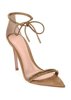 Gianvito Rossi Pointed Open-Toe Ankle-Toe Sandals