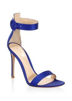 Gianvito Rossi Portofino Ankle-Strap Satin Sandals