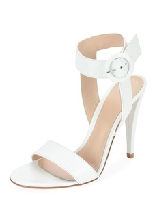 Gianvito Rossi Smooth Leather Ankle-Wrap Sandals
