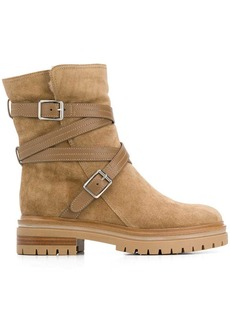Gianvito Rossi strappy buckle boots