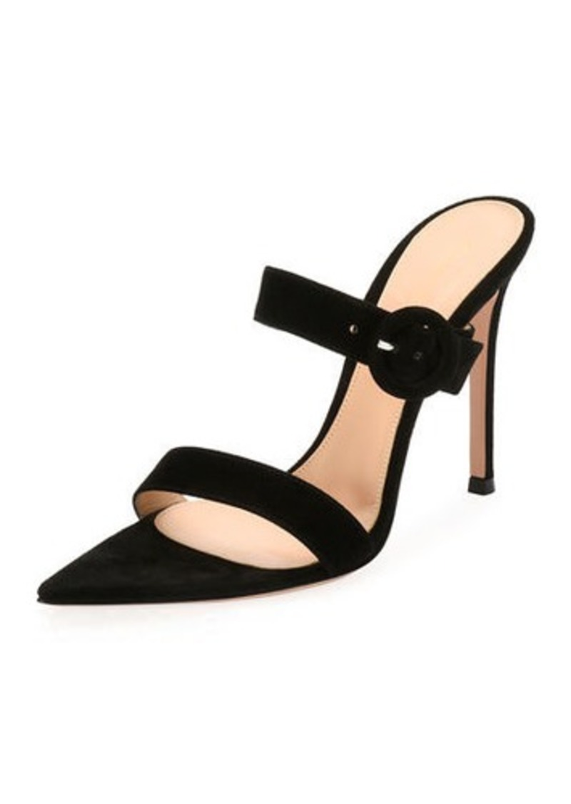 609a3e041d3 Gianvito Rossi Suede Slide Buckle Sandal Now  521.00 - Shop It To Me