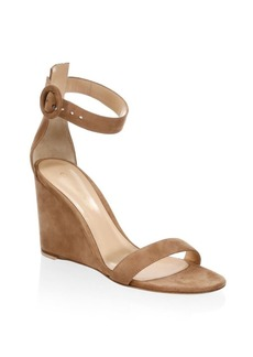 Gianvito Rossi Suede Wedge Sandals