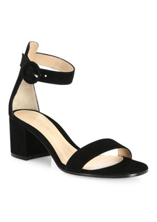 Gianvito Rossi Texas Suede Block Heel Sandals