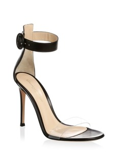 Gianvito Rossi Transparent Toe Ankle Strap Sandals