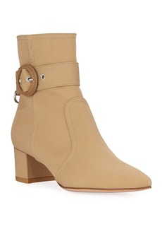 Gianvito Rossi Trench Coat Buckle Booties