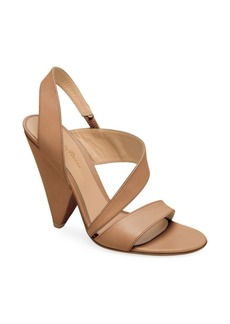 Gianvito Rossi Triangle-Heel Leather Slingback Sandals