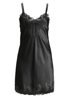 Ginia Basic Scallop-Trimmed Silk Chemise