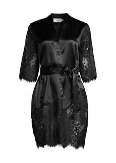 Ginia Blaise Silk Lace Robe