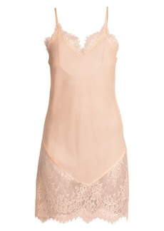Ginia Chantilly Lace Silk Chemise