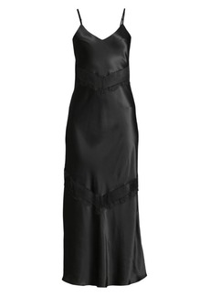 Ginia Chevron Lace Maxi Slip Dress