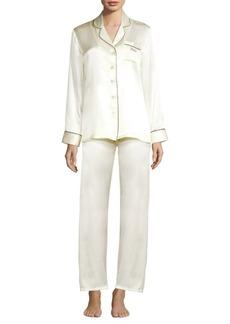 Ginia Fleurette Bride Silk Pajama Top and Pants