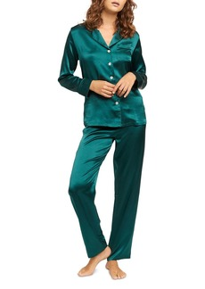 GINIA Long Silk Pajama Set