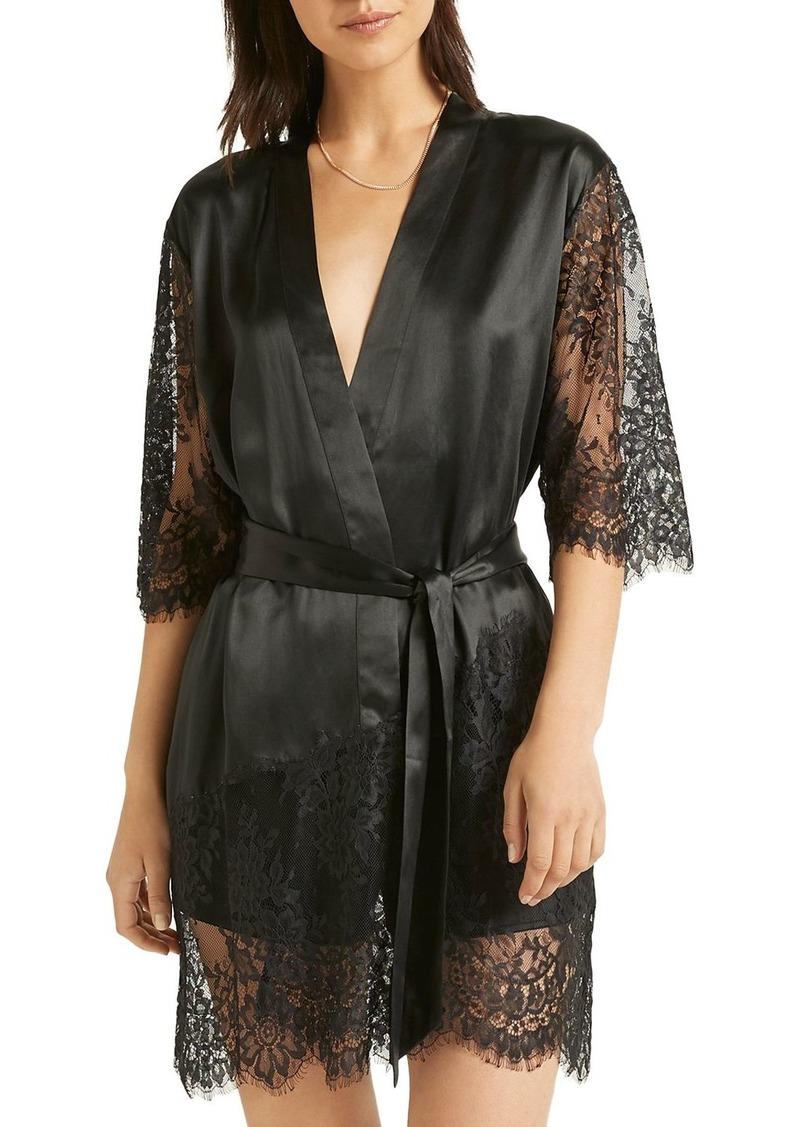GINIA Silk Lace Robe