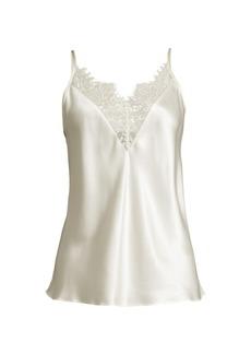 Ginia Lace-Trim Silk Camisole