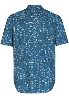 Gitman Brothers Bandana print short-sleeve shirt