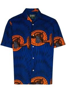 Gitman Brothers Fan printed short sleeved shirt