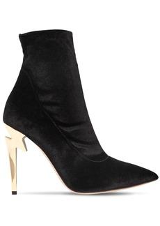 Giuseppe Zanotti 105mm Stretch Velvet Ankle Boots