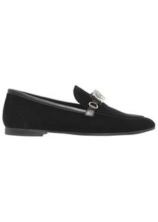 Giuseppe Zanotti 10mm Velvet & Swarovski Loafers