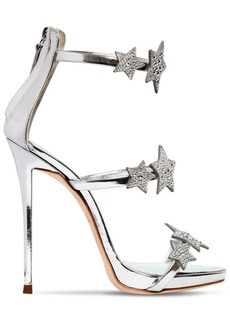 Giuseppe Zanotti 120mm Swarovski Metallic Leather Sandals