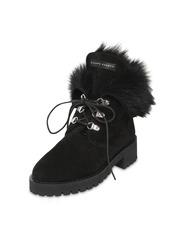 Giuseppe Zanotti 20mm Fur & Suede Combat Boots