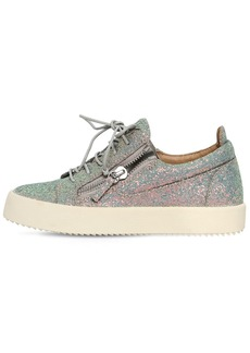 Giuseppe Zanotti 20mm Glittered Zip Up Sneakers