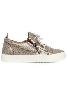 Giuseppe Zanotti 20mm Snake Printed Leather Sneakers