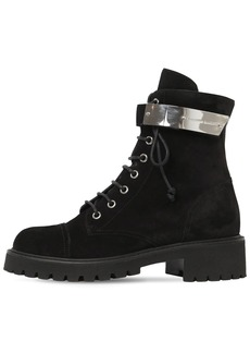 Giuseppe Zanotti 25mm Suede Combat Boots