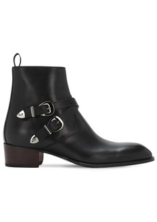 Giuseppe Zanotti 40mm Leather Zip Ankle Boots