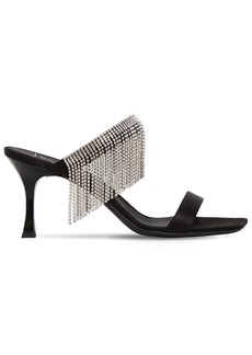 Giuseppe Zanotti 70mm Crystal Fringe Satin Sandals