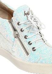 Giuseppe Zanotti 85mm Glitter Zip Up Wedged Sneakers