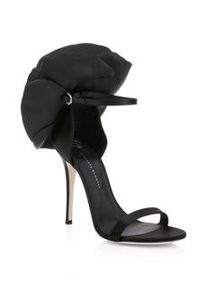 Giuseppe Zanotti Alien Floral Silk Ankle-Strap Sandals