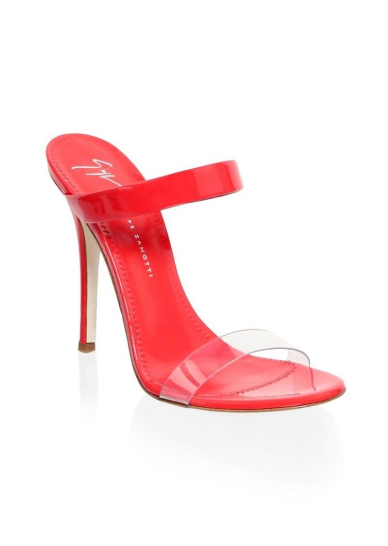 Giuseppe Zanotti Alien Transparent Leather Sandals