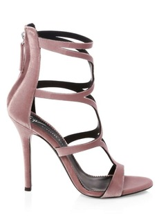 Giuseppe Zanotti Alien Velvet Strap Sandals
