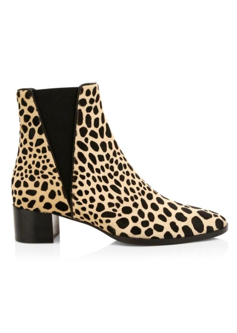 Giuseppe Zanotti Judy Animal-Print Calf Hair Chelsea Boots