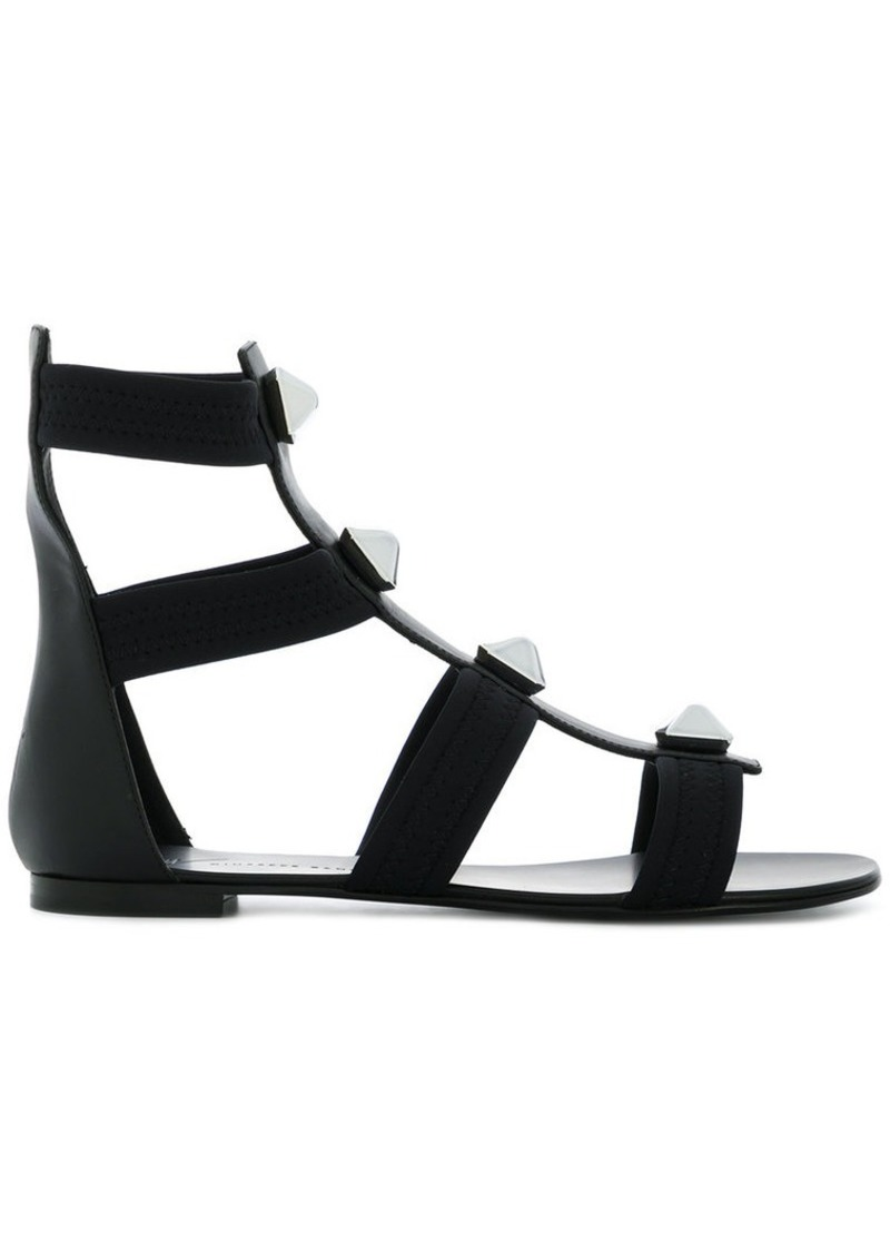 Giuseppe Zanotti ankle gladiator studded sandals