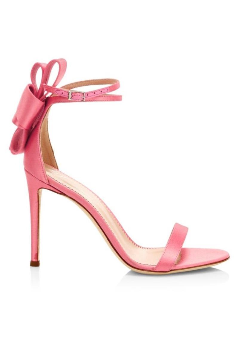 Giuseppe Zanotti Back Bow Silk Sandals