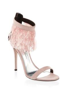 Giuseppe Zanotti Beaded Suede Stiletto Sandals