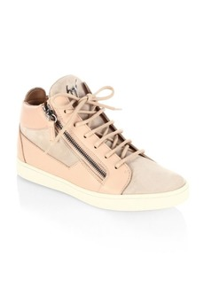 Giuseppe Zanotti Breks Calf Leather Mid-Top Sneakers
