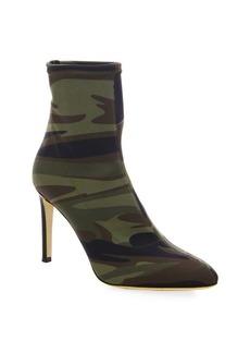 Giuseppe Zanotti Camouflage-Print Stiletto Booties