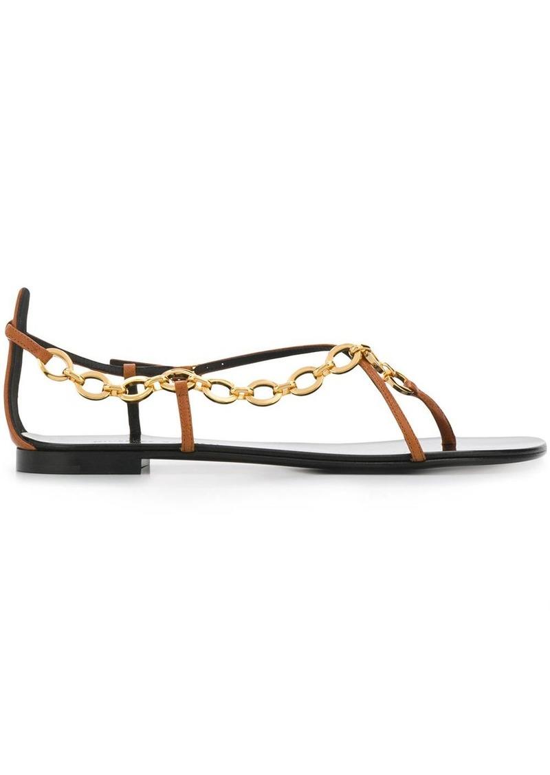 chain-strap sandals