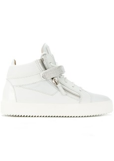 Giuseppe Zanotti Coby hi-top crystal sneakers