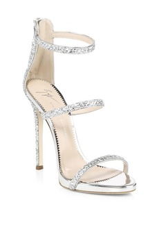 Giuseppe Zanotti Coline Leather Ankle-Strap Sandals
