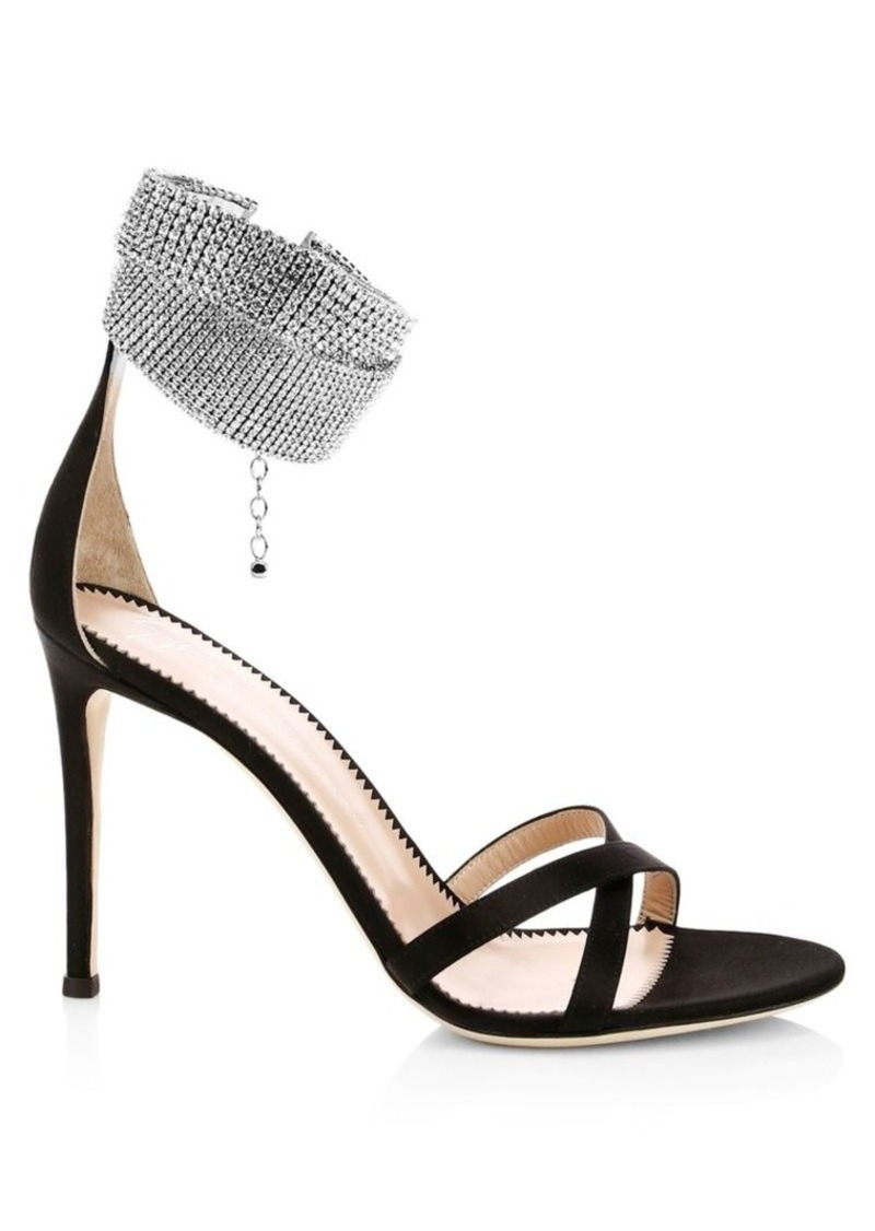 Giuseppe Zanotti Criss Cross Crystal-Embellished Sandals