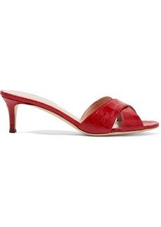 Giuseppe Zanotti Croc-effect Leather Sandals