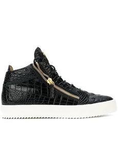 Giuseppe Zanotti crocodile embossed Kriss sneakers