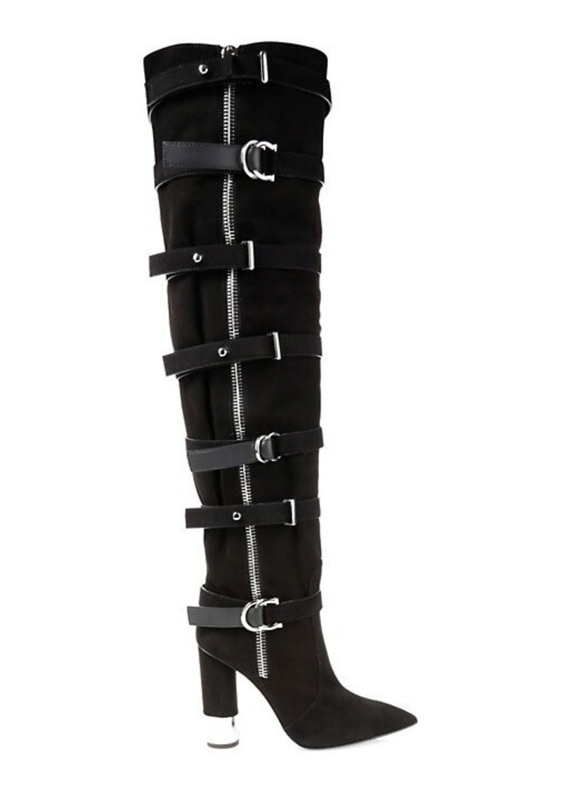Giuseppe Zanotti Crudela Suede Over-The-Knee Buckle Boots